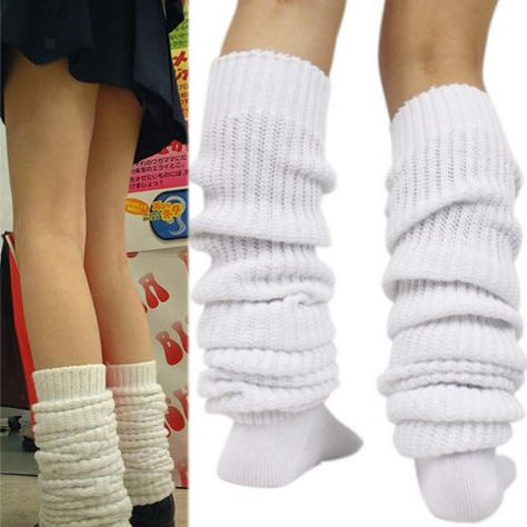 Hosiery & Socks Ladies Girls Over Knee Long Casual Ladies Thigh High Plain Cotton Overknee Socks Harajuku Fashion, Punk Fashion, Fashion Outfits, Fashion Tips, Grunge, Sock Bubbles, Slouch Socks, Girls Stretching, Kawaii Clothes