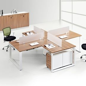 Wooden Office Furniture 3 Person 6 Person 4 Seat Office