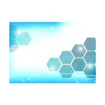 2020 的 Abstract Technology Background With Hexagons Background
