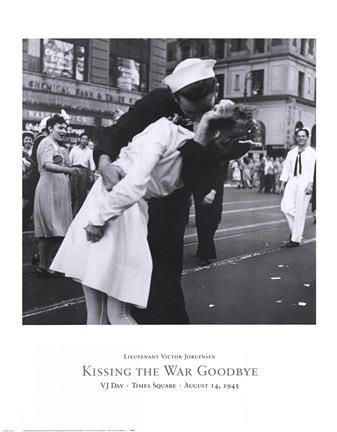 Kissing the War Goodbye Military Art Print- 19 X 18.5