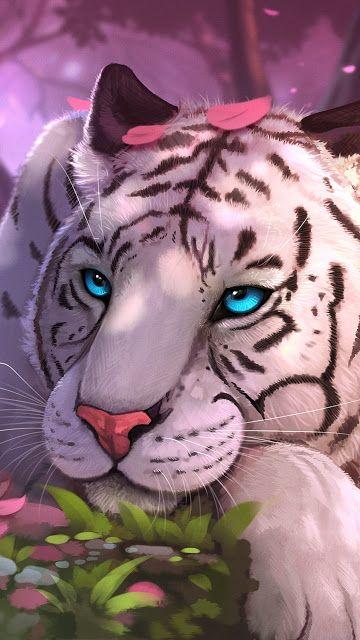 Fantasy White Tiger Wallpaper Big Cats Art Cute Animal Drawings Tiger Spirit Animal