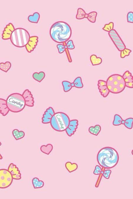 Padrao Sem Emenda De Pirulitos De Rosa Dos Desenhos Animados Candy Background Cute Patterns Wallpaper Aesthetic Iphone Wallpaper