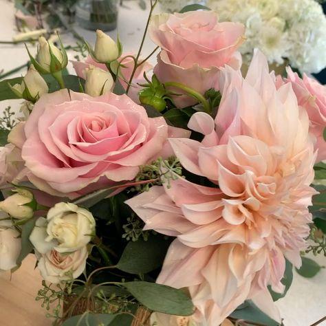 Blush & gold Anniversary/wedding arrangement