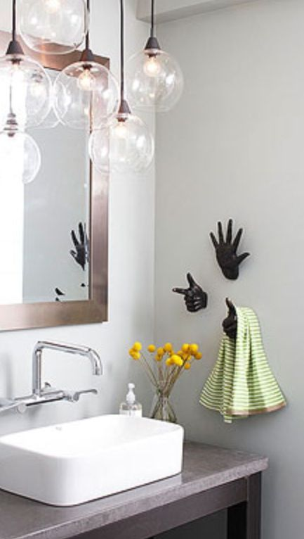 Maybe A Quirky Hand Towel Holder Bathrooms Pinterest - Hand towel racks for bathrooms for bathroom decor ideas