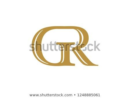 Initial Letter Gr Logo Colored Gold Lettering Logo Color Love Logo