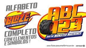 Alfabeto Blaze And The Monster Machines Gratis Para Imprimir