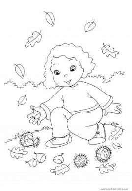 Dibujos Para Colorear Fotos De Diseños Dibujo De Niña Recogiendo