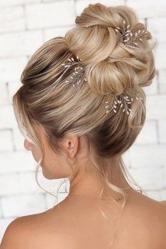 36 Pretty Swept Back Wedding Hairstyles Bun Hairstyles For Long Hair Ball Hairstyles Princess Hairstyles