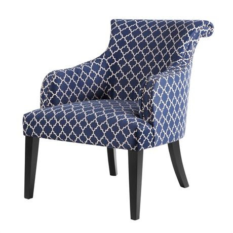 Pairing two of these chairs in a grouping will not only create extra seating but will also complete the look of any conversation area. Its graceful curves and elegant silver nail head trim make this chair an elegant accent to any room.
