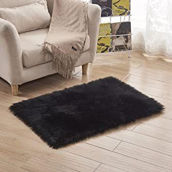 Lj Amp Xj Engrosamiento Felpa Shaggy Alfombra Suave Nosmelling Moquetas Lisa F Aacute Cil De Limpiar Sala De Estar In 2020 Faux Sheepskin Rug Plush Carpet Fluffy Rug