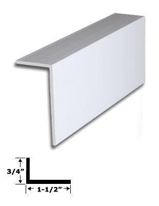 1 1 2 X 3 4 White Vinyl L Trim With Tape 83 7 8 Long White Vinyl Vinyl Replacement Windows Window Vinyl