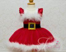 Artículos similares a Christmas Santa Tutu-- Santa tutu- Santa- Christmas tutu- Christmas shirt- Christmas dress- Christmas photo prop- Baby Christmas en Etsy