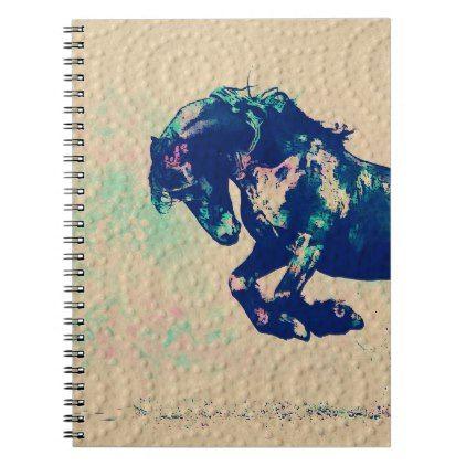 3d Rustic Dot Circle Mark Paint Texture Horse Notebook