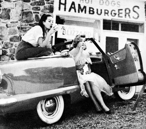 girls and hamburgers