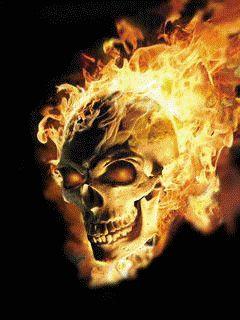 Flaming Skull Skulls Photo 39103617 Fanpop Skull Art Ghost Rider Wallpaper Skull Pictures