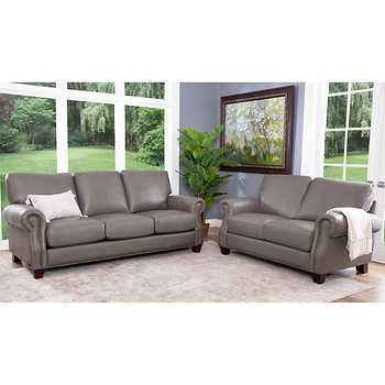 Venosa 2 Piece Leather Sofa And Loveseat Set In 2020 Leather Living Room Set Living Room Leather Living Room Sets Furniture