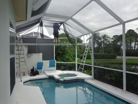 Porch Rescreen Pool Cage Patio Rescreening Or Repair Pool Cage Pool Patio
