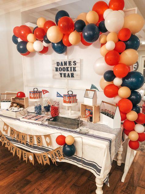 1 Year Birthday Party Ideas, Baby Boy 1st Birthday Party, First Birthday Party Themes, Party Themes For Boys, 1st Birthday Party Ideas For Boys, Baseball Theme Birthday, 1st Birthday Photoshoot, First Birthdays, Touch