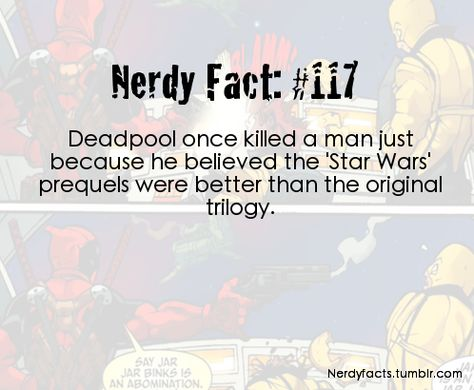 Deadpool is my favorite comic book character..
