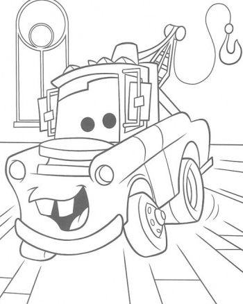 6 free printable disney cars tow mater coloring pages - Mater Coloring Pages Free