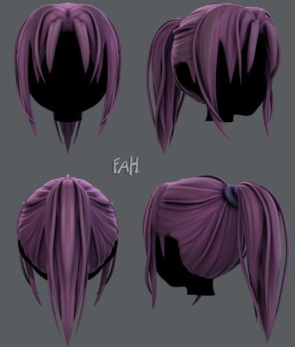 Pin On Selling 3d Hairstyles For Animation