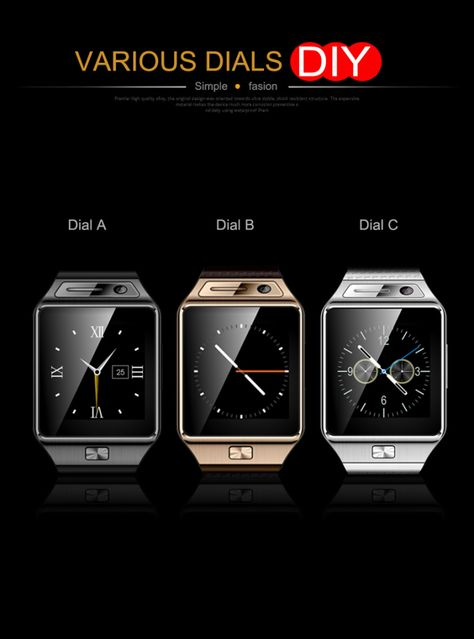 GV08S IPS OGS Screen Smart Watch Phone