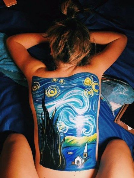 49 Ideas For Back Painting Body Art Tumblr Ink Body Art Painting Body Painting Tumblr Back Painting