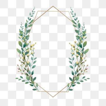 Beautiful Green Leaf Frame Clipart Design Wedding Wedding Card PNG Transparent Clipart Image and PSD File for Free Download in 2020 Green leaf background Flower frame Leaf background