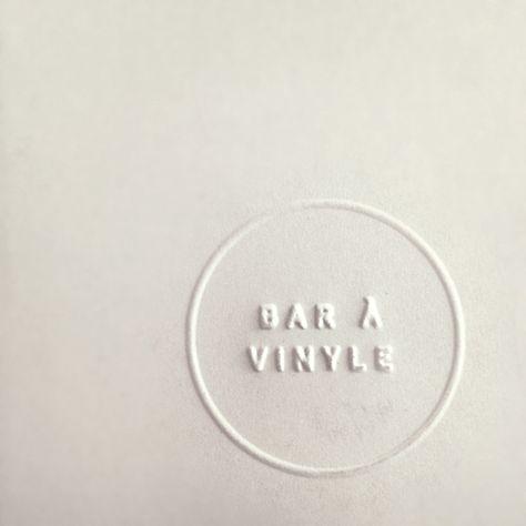embossed stationery logo | Le Bleury bar à vinyle | Elizabeth Laferrière, Montreal.