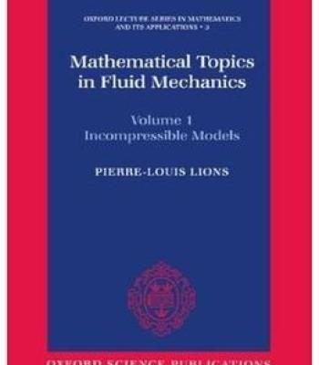 Mathematical Topics In Fluid Mechanics PDF | Mathematics