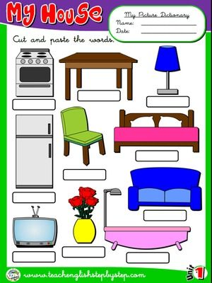 Pin By Robert Copeland On Rooms Of The House (Los Cuartos De La Casa) |  Pinterest | English, Classroom Language And Action Verbs