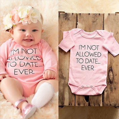 New born Infant Baby Boy Girl Kids Romper Jumpsuit Cotton Bodysuit Clothes 2019