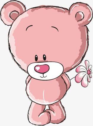 Bear Holding A Flower Bear Vector Flower Vector Bear Png Transparent Clipart Image And Psd File For Free Download Teddy Bear Cartoon Cartoon Clip Art Teddy Bear Pictures