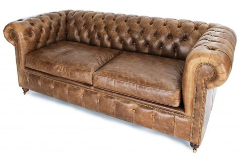 Leather chesterfield sofa - makes me want to lie down and sleep on ...