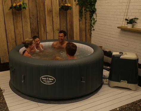 Whirlpool für außen garten halb einbau Outdoor lounge - reihenhausgarten und pool