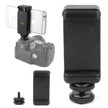 1 4 Inch Phone Clip Holder With Flash Hot Shoe Screw Adapter Tripod Mount For Camera Hot Shoes Tripod Mount Phone Clip