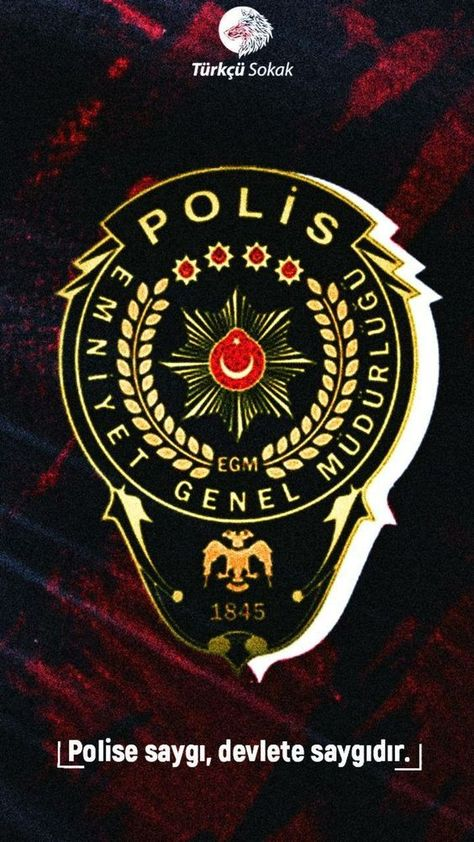 Can Alada Adli Kullanicinin Turkcu Panosundaki Pin Polis Armasi Polis Duvar Kagitlari