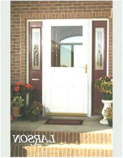 A Larson Storm Door With A Hidden Retractable Screen Offers Maximum Ventilation Storm Door Retractable Screen