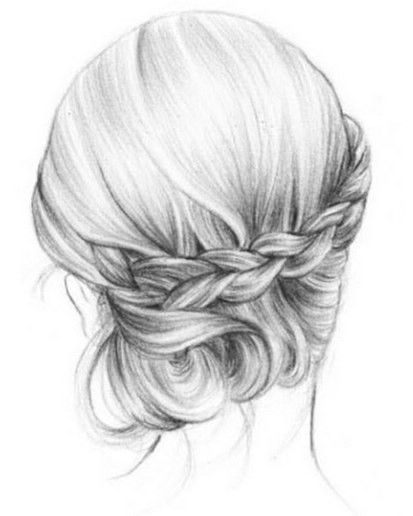 Pretty Messy Updo Hairstyle Casual Everyday Hairstyle For Women 2017 How To Draw Hair Hair Sketch Hair Illustration