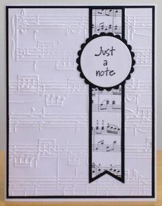 Notecard by - Cards and Paper Crafts at Splitcoaststampers - Geprägte karten My Planner Colibri, Musical Cards, Karten Diy, Embossed Cards, Get Well Cards, Card Sketches, Sympathy Cards, Paper Cards, Greeting Cards Handmade
