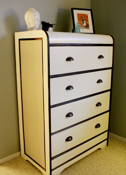 art deco painted furniture. 2 tone dresser with linen fabric side panels modgepodged in find this pin and more on art deco painted furniture t