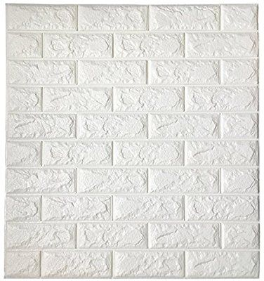 Amazon Com Art3d Peel And Stick 3d Wall Panels For Tv Walls Sofa Background Wall Decor White Brick Wall Brick Wall Paneling Brick Wallpaper Vinyl Wall Panels