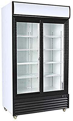 Procool Refrigeration Double Sliding Glass 2 Door Upright Display Beverage Cooler Merchandiser 3 Beverage Cooler Whole House Water Filter Display Refrigerator