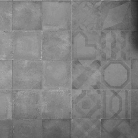 Carrelage Sol Et Mur Aspect Carreau Ciment Vintage Anthracite