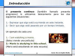 1 5 El Presente Continuo Y Reglas Del Verbo En Gerundio Ing English Lessons Lesson Esl