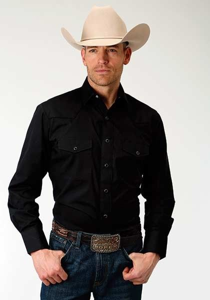 4c67051c Cowboy Black Shirt ~ Silver Steer | Men's outfit in 2019 | Cowboys ...