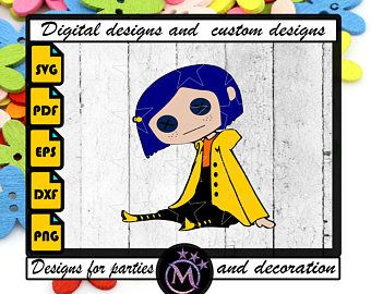 Cute Coraline Character Clipart Instant Download Png File Etsy In 2020 Clip Art Coraline Characters Coraline