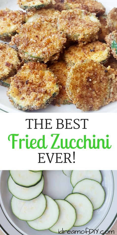 The Best Fried Zucchini Recipe Ever! An easy parmesan zucchini chips recipe that is sure to please your whole family. The Best Fried Zucchini Recipe Ever! An easy parmesan zucchini chips recipe that is sure to please your whole family. Parmesan Zucchini Chips, Fried Zuchinni, Fried Zucchini Recipes, Zucchini Pommes, Zucchini Chips Recipe, Vegetable Recipes, Fried Zucchini Sticks, How To Fry Zucchini, Fried Zucchini Batter