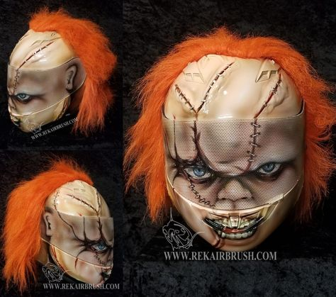 Chucky airbrushed helmet