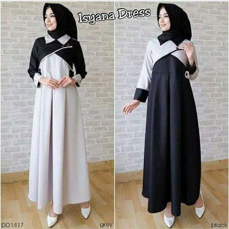 Baju Pakaian Wanita Gamis Maxi Isyana Dress Murah Baju Pakaian